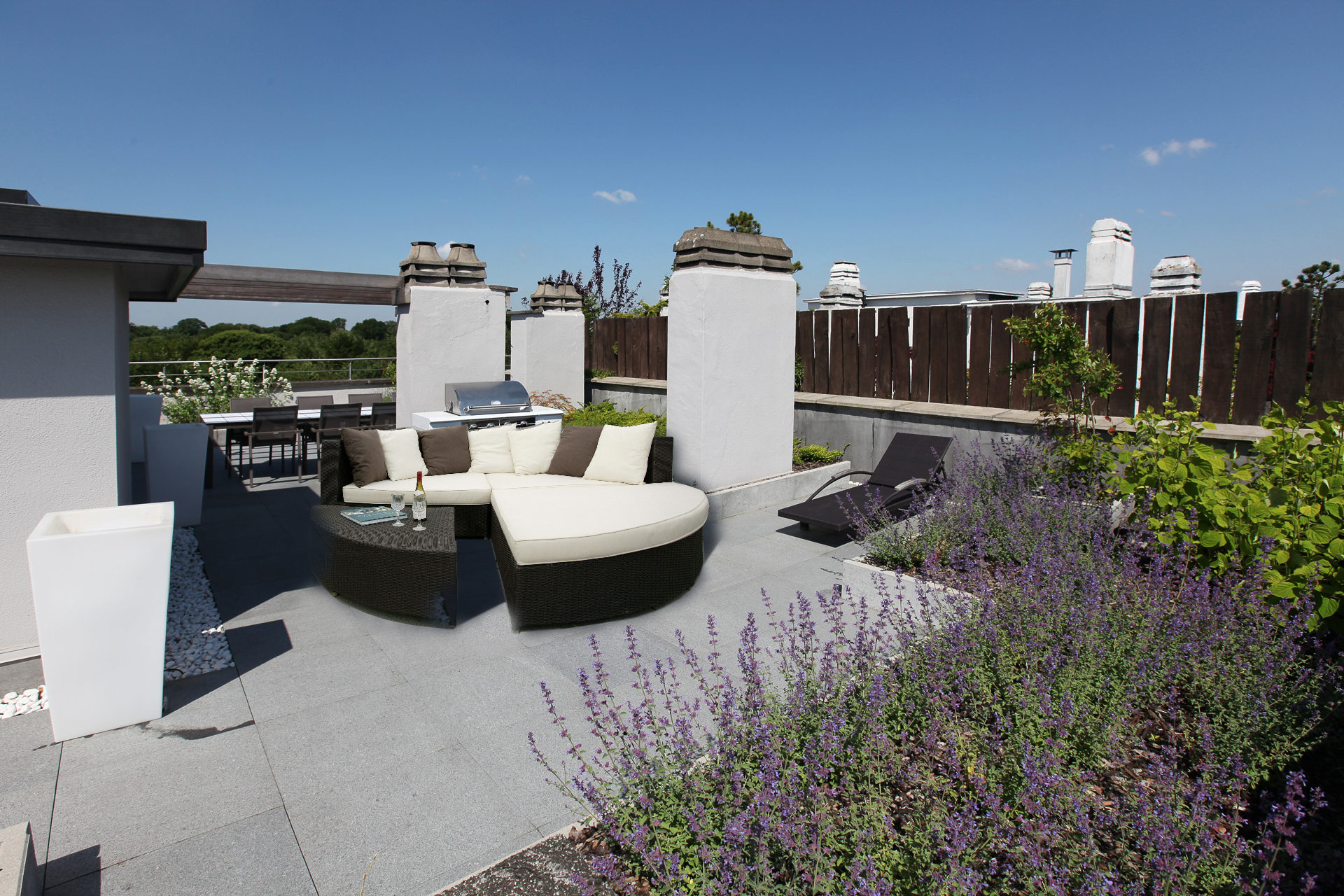 penthouse en style campagnard marcotte style. Black Bedroom Furniture Sets. Home Design Ideas