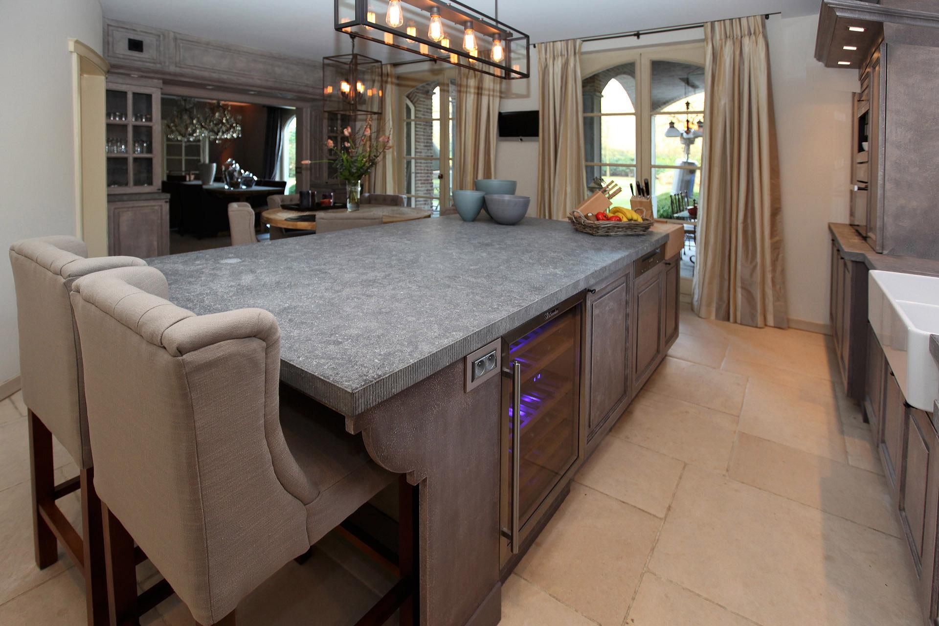 Landelijke salon en keuken Kalmthout - Marcotte Style