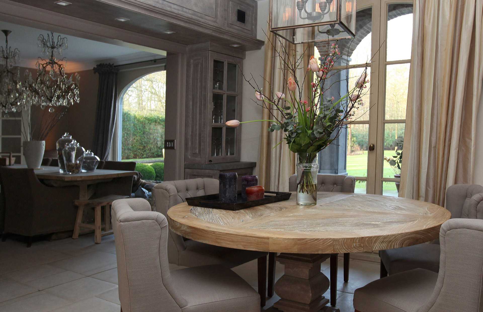 Country kitchen and livingroom in Kalmthout - Marcotte Style