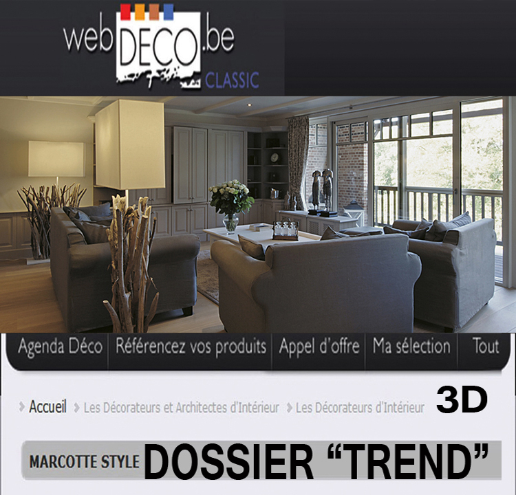 "2010 Dossier in WEBDECO ""Trend"" black and white"